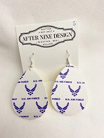 Faux Leather Air Force Earrings