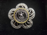 Army University Flower Brooch