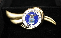 Air Force Wife Gold Brooch