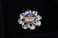 Military Brat Jeweled Brooch