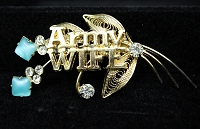 Army Wife Brooch