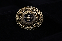 Gold Lattice CGSC Foundation Brooch