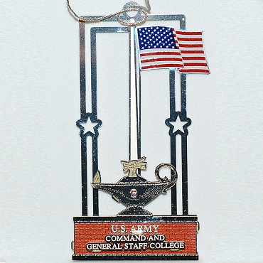 CGSC Flag Post Ornament