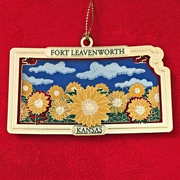 Kansas Sunflower Ornament